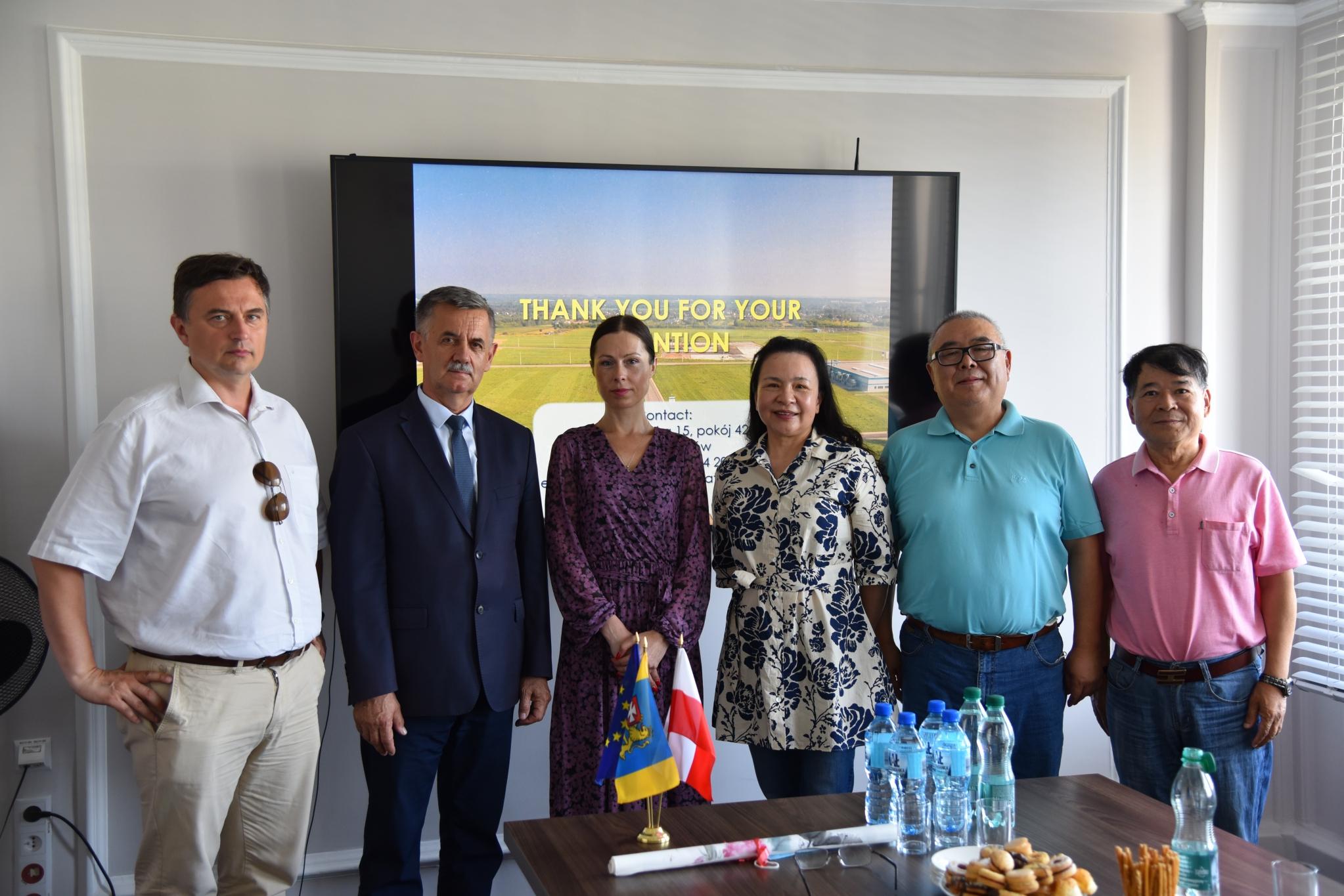Delegacja z Chin w Powiecie Rzeszowskim