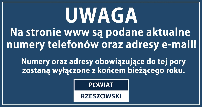 UWAGA - Nowe numery telefonów